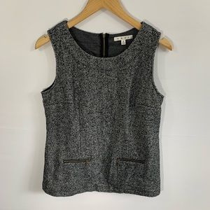 CAbi Tweed Zip Back Sleeveless Top, Size M